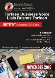 Torfaen Business Voice - November 2016 Newsletter