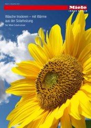 Miele Aktionsprospekt Solartrockner