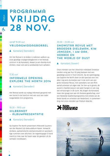 Explore the North programmagids 2014