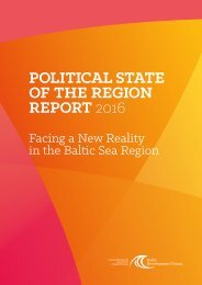 POLITICAL STATE OF THE REGION REPORT 2016