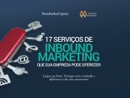 17 serviços Inbound Marketing  que sua empresa pode ooferecer