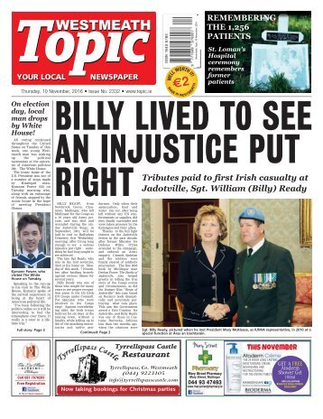 Westmeath Topic - 10 November 2016