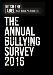 Find out more about our anti-bullying charity at www.DitchtheLabel.org