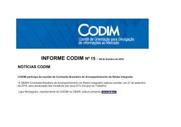 INFORME CODIM