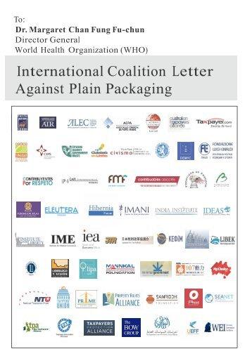 International Coalition Letter Against Plain Packaging