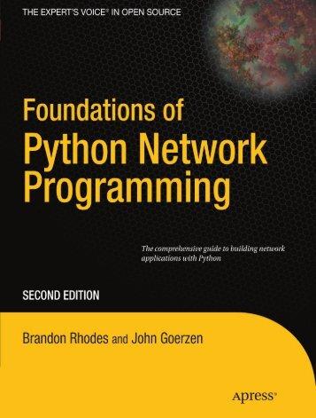 Foundations of Python Network Programming    978-1-4302-3004-5