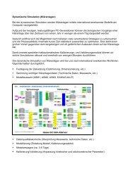 Dynamische Simulation (Kläranlagen) Modellauswahl (ASM1 ...
