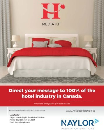 Direct your message to 100% of the hotel industry in Canada