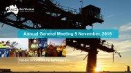 Annual General Meeting 9 November 2016