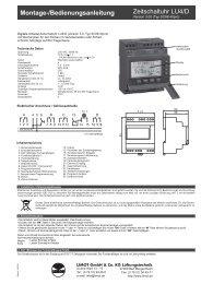 Montage-/Bedienungsanleitung Zeitschaltuhr LU4/D - Limot