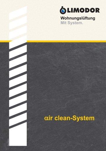 Wohnungslüftung Mit System. ir clean-System -  Limot