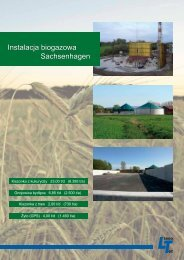 Instalacja biogazowa Sachsenhagen - LimnoTec