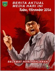 e-Kliping, Rabu, 9 November 2016