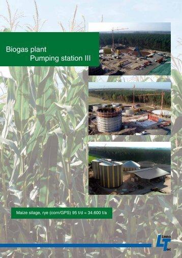 Biogas plant Pumping station III - LimnoTec Abwasseranlagen GmbH