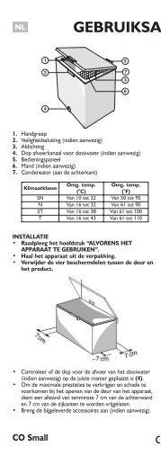 KitchenAid ICF220 B - Freezer - ICF220 B - Freezer NL (850790901040) Istruzioni per l'Uso