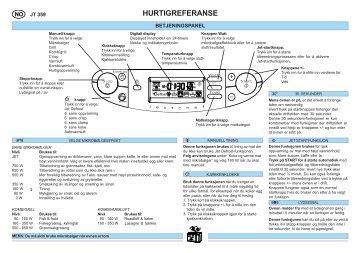 KitchenAid JT 359 alu - Microwave - JT 359 alu - Microwave NO (858735915640) Scheda programmi
