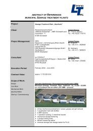 abstract of references municipal sewage treatment plants - LimnoTec