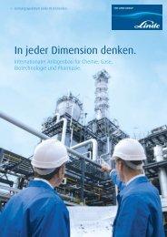 In jeder Dimension denken. - Linde Engineering Dresden GmbH