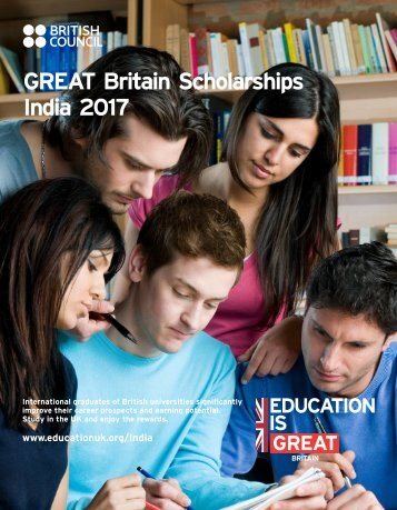 GREAT Britain Scholarships India 2017