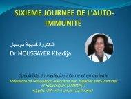 SIXIEME JOURNEE DE L'AUTO-IMMUNITE PRESENTATION POWERPOINT Dr MOUSSAYER  5 NOVEMBRE   2016