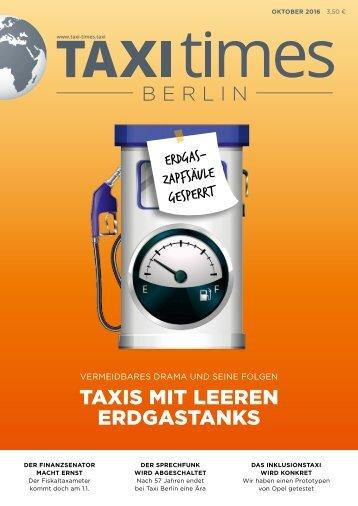 Taxi Times Berlin - Oktober 2016