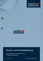 Fahnen Kössinger Vereins- und Firmenbekleidung