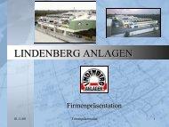 Leistungen: 300 kW - Lindenberg-Anlagen GmbH