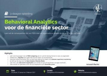 Behavioral Analytics voor de financiële sector