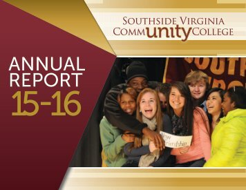 Southside Virginia CommUNITY College - Annual Report 15-16