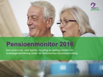 Pensioenmonitor 2016