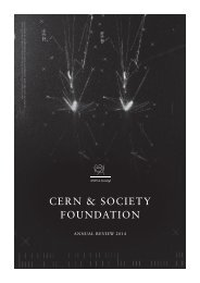 CERN & Society Foundation Annual Review 2014