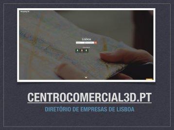 apresentação centro comercial 3d para comerciais