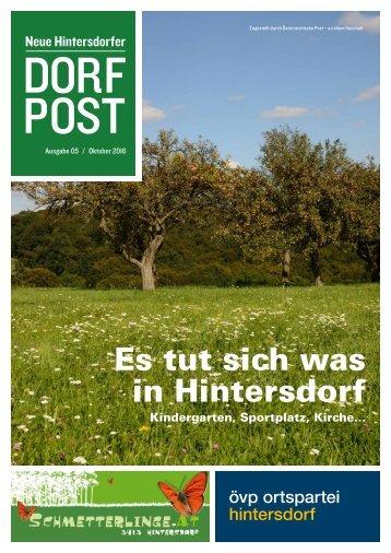 Dorfpost Hintersdorf: Ausgabe 05 / Oktober 2016