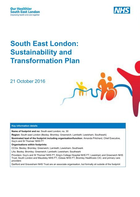 South East London Sustainability and Transformation Plan