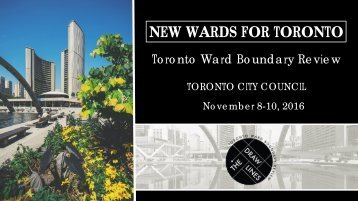 NEW WARDS FOR TORONTO