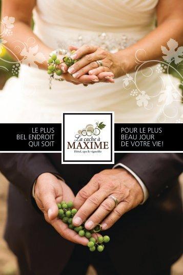 La cache à Maxime - Brochure Mariage