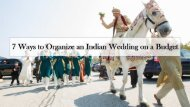 7 Ways to Organize an Indian Wedding on a Budget