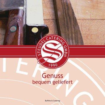 Buffet-Flyer herunterladen... - Steudel Catering GmbH