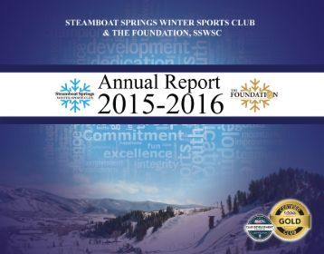 Steamboat Springs Winter Sports Club 2015-2016 Annual Report