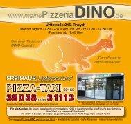 """Seit über 15 Jahren DINO-Qualität! """"Denn Essen ist ... - Pizzeria DINO"""