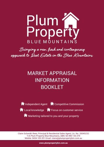 Plum Property Blue Mountains Pre-Appraisal Information Kit