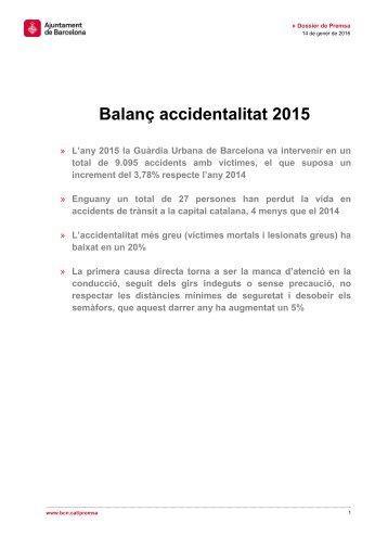 Balanç accidentalitat 2015