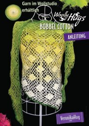 Anleitung BOBBEL Cotton Woolly Hugs Tuch Traumrauten