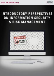 Information Security & Risk Managment Handbook 2016 ABOUT ISACA UW