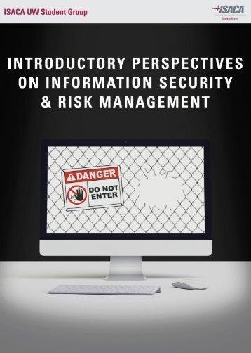 Information Security & Risk Managment Handbook 2016 ABOUT ISACA UW
