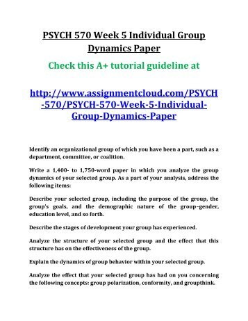 group dynamics paper