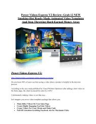 Power Videos Express V2 Review and $30000 Bonus - Power Videos Express V2 80% DISCOUNT