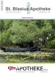 PDF Apothekenzeitschrift Ausgabe Sommer 2012 - St. Blasius ...