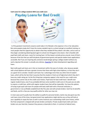 how to get a student loan with low credit score