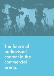 The future of audiovisual content in the commercial arena